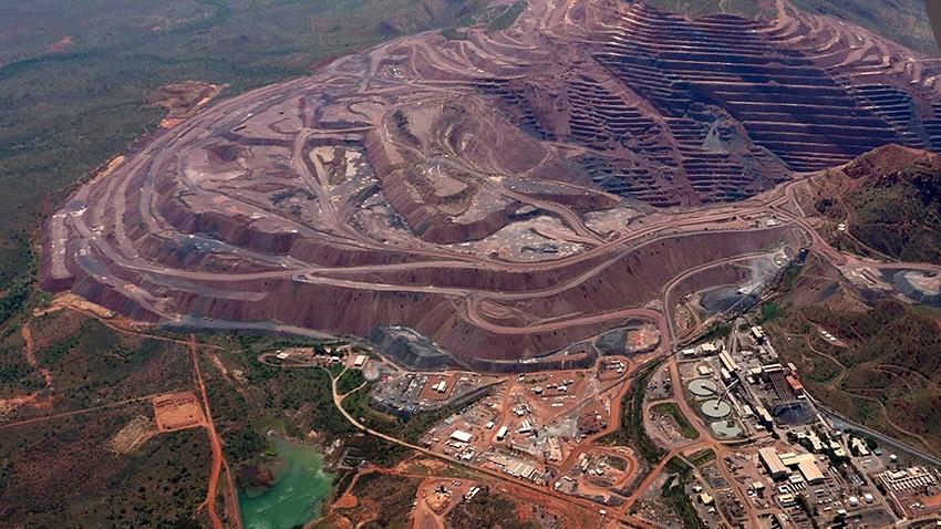 A diamond mining site.