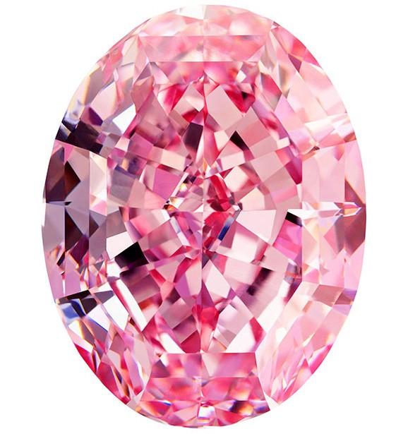 A pink diamond.