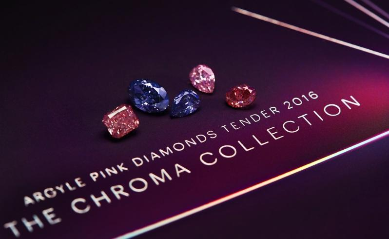 The Chroma Collection - different shapes and colors of diamonds.