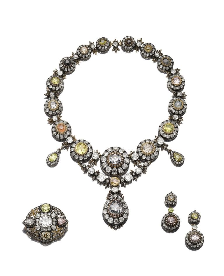 A diamond necklace from the Russian crown jewels.