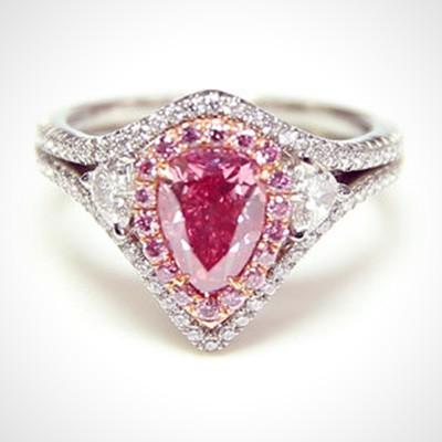 A fancy diamond ring.