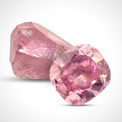A fancy colour diamond.