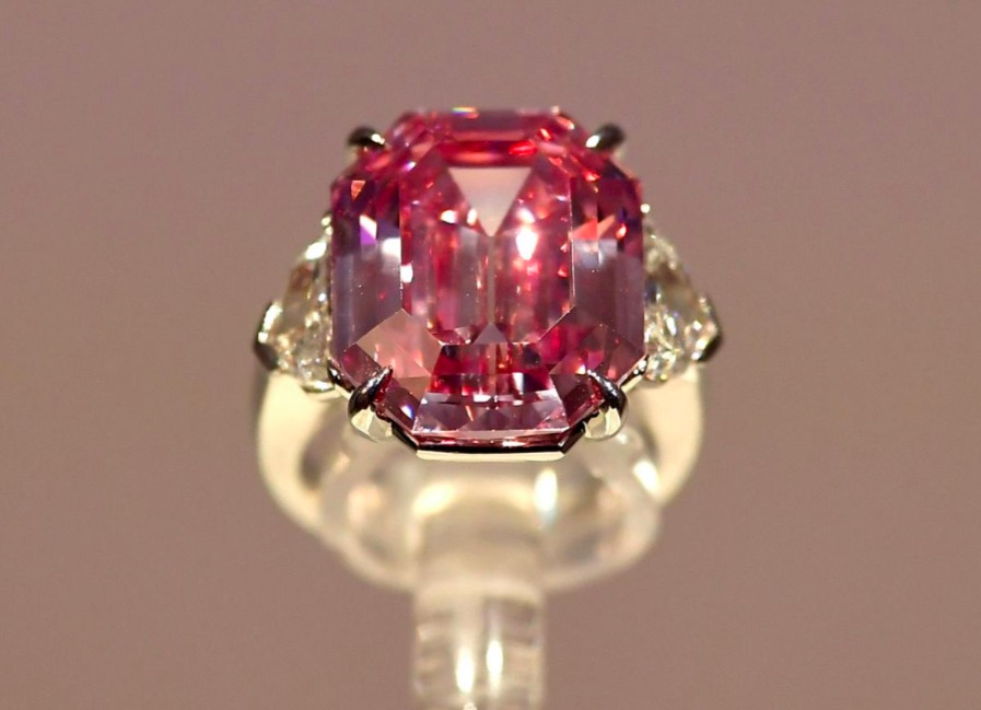 The rectangular cut pink legacy diamond.
