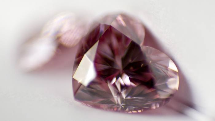 A heart-shaped pink diamond.