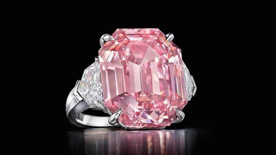The 18.96 carat Pink Legacy. Image © Christie's 2019.