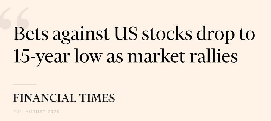 Financial Times article headline