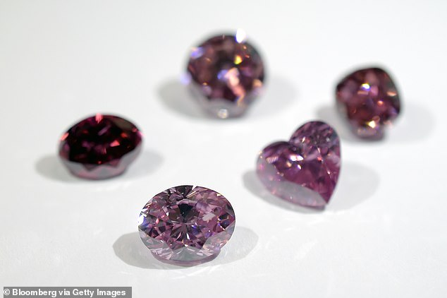 A selection of beauties from last year's Argyle Pink Diamond Tender