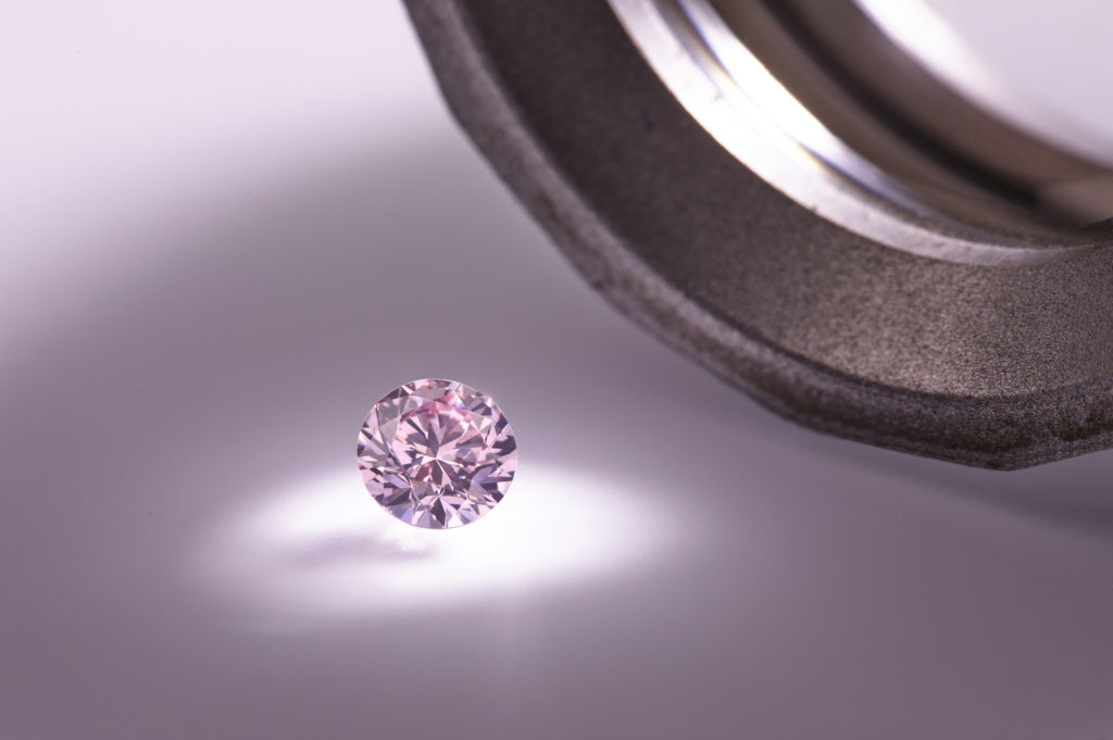 A pink diamond from The Legacy Collection.